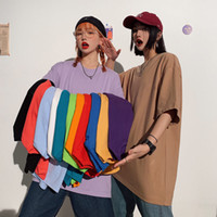 Mayor del verano mujeres de la camiseta impresa letra femenina multicolor tee Tops O-Cuello de gran tamaño de las camisetas de manga corta camisa de Femme NVTX238
