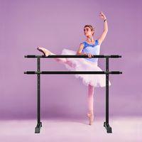 가로 막대 1.2m 휴대용 발레 바리 프리 스탠딩 스트레치 바, 높이 조절 댄스 운동 훈련 휘트니스
