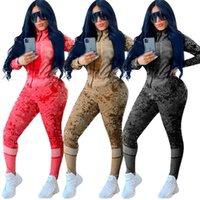 Due donne Tracksuits Due pezzi Outfits Giacca manica lunga Pantaloni da donna Nuovi pantaloni di moda Set sportswear Nuovo tipo Vendita calda KLW5081