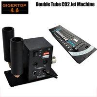 Discount Price Double Tips CO2 Jeet Machine Светодиодный дымовой эффект CO2 Устройство + 1 шт. 192 DMX Контроллер Сцена Освещение 512 DMX Консоль