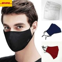 Máscara de EE.UU. diseñador Stock PM2.5 contra polvillo reutilizable lavable Filtros Máscaras Máscara de algodón unisex de la boca de mufla
