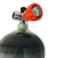 AC16811 Acecare PCP 페인트 6.8L 300Bar 4500PSI CE 에어 탱크 실린더 레드 밸브와 다이빙 공기 압축 총 탄소 섬유 병