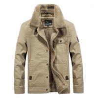 Artı Kadife Yaka Boyun Moda Coat İlkbahar Sonbahar Erkek Tasarımcı Casual ceketler İşleme Uzun Kollu
