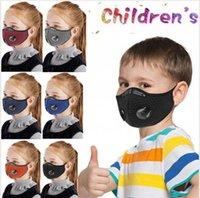 Máscara criança Ciclismo com válvula ativado Kid carbono de bicicleta à prova de poeira respirável lavável Protective Outdoor Sports cobrir a boca LJJP504