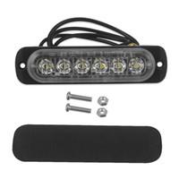 12V-24V luminoso eccellente 18W 6-LED di pericolo della costruzione di emergenza per montaggio superficiale Beacon Flash lampada Attenzione Strobe Light