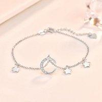 Anklets Star Star Simple Bracelet 925 Sterling Silver Charm Bracelets Classique Design Femelle Fête Fête Mariage Cadeau de mariage