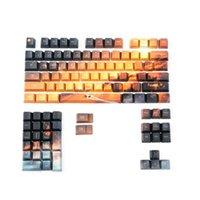 Tastiera Mouse Combos PBT KeyCap Saturn Profilo OEM 5 Facce Dye-Sublimation Keycaps 104 + 4 + 2 tasti Star Sky Key personalità per 104 meccanico