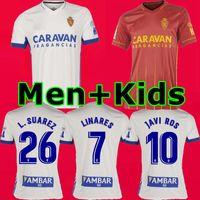 Mann + Kinder 20 21 Real Zaragoza SOCCER JERSEY 2020 2021 Zaragoza Shinji Kagawa André Pereira Alberto camisetas de futbol SET-Fußball-Hemden