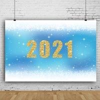 2021 Temporada de graduación Temporada Azul Telón de fondo Blanco Romántico Romántico Copos de nieve Decoración Fondo Estudiantes Gradilla Partido Sesión Fondo para PROMOG PROP