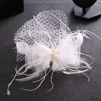 Lady Cocktail Dinktail Dîner Fedoras Mariage Mariage Bowknot Vintage Sombreros Chapeau Fascinators LM059