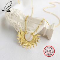 Halsketten Anhänger 925 Sterling Silber Boho Gold Kette Halskette Loves Colares Compridos Collana Donna Bijoux Femme Tak Jewelry MX200810
