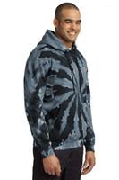 Frühling im Herbst mit Kapuze Übergrößen Sweatshirts Pullover Männer Bindung gefärbten Entwerferhoodies-Mann