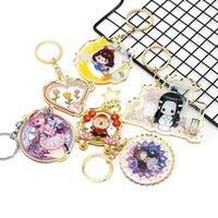 Porte-clés Anime Keychain Accessoires Gold Edgetage Personnalisé Imprimerie personnalisée Designer acrylique pour sacs Femmes de luxe Cadeau