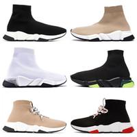 2020 heiße mode frauen sock trainer mens designer casual schuhe graffiti clearsohe schnelle up dreifach s weiß schwarz beige luxus boots turnschuhe