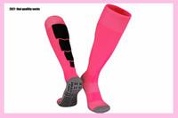 2021 nouvelle longueur du genou chaussettes sport homme chaussettes soccer adulte rose blanc étudiants chaussettes