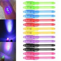 Papeterie créative UV Magic Light Pen Invisible Ink Pen drôle Marker Pen Fournitures scolaires pour enfants Cadeaux Dessin AAF2016