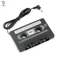 100pcs / lot de 3,5 mm Adaptateur universel cassette audio stéréo voiture Adaptateur cassette de bande pour le lecteur MP3 Téléphone gratuit BLACK DHL