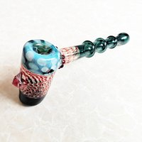 Glass Hammer Bubbler Glass Water Pipes Honeycomb Colorful Gl...
