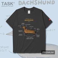 الرجال القمصان مضحك dachshund الحيوان تحليل الرسم البياني الكرتون نمط رجل تي شيرت صالات رياضية بيضاء للرجال t-shirt أعلى الملابس الصيفية
