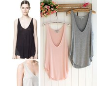 Fashion Sexy Soft Womens V- Neck Vest Summer Loose Sleeveless...