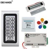 Impronta digitale Access Control IP68 Kit di sistema impermeabile 125KHz tastiera RFID Tastiera del metallo + serratura elettrica + interruttore di uscita della porta + alimentazione all'aperto