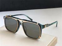 Le ultime vendite Vendita Popolare Moda Designer Designer Sunglasses Square Quadrato Luxury Plate Metal Combination Frame Top Quality UV400 Lente con scatola