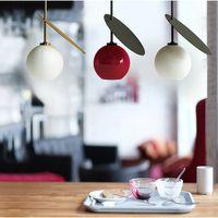 concepteur nordique nouveau comptoir de bar conduit pendentif chandelier café restaurant lampes lampes suspendues cerise rouge italienne créative