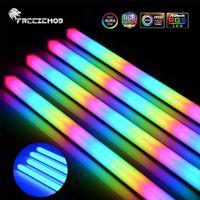 FANS Colidings Freezemod RGB LED Strip ARGB Câble lumineux Soft 5V3Pin / 12v4pin Aura Water Cooler personnalisé MOD CHASSIS Lampe magnétique PC Decoratio