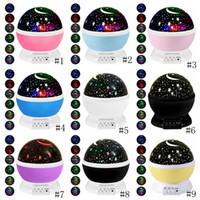 Night Light Projector Lamp Etoiles Starry Sky LED Projecteur d'enfants d'enfants de sommeil de bébé Led romantique lampe de projection Party Décoration GGA3710-1
