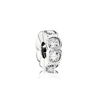 NOVA prata esterlina 100% 1: 1 Glamour 792027CZ ALLURING COXIM SPACER encanto Bead Original Fashion Women Wedding Jóias 2018 presente