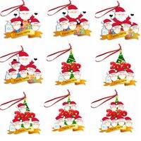 2020 Weihnachts Maske Schneemann Anhänger Harz Verzierung Weihnachtsbaum hängende Anhänger Dekoration Geschenk wünscht, die ganze Familie Frieden GGA3733-3
