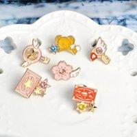 Pins, Broşlar Kart Captor Sakura Pembe Yaka Emaye Düğme Pins Japonya Anime Karikatür Rozetleri Mihaze Rüya Kızlar Hayranları için Takı Hediyeler