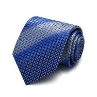 العلاقات القوس جودة عالية 2021 مصمم الأزياء الأزرق التدرج منقوشة 8 سنتيمتر للرجال ربطة العنق المضيف العمل الأعمال الرسمية بدلة مع هدية مربع