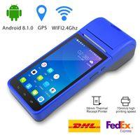터미널 PDA 바코드 스캐너 안드로이드 8 3G WIFI Bluetooth 무선 서멀 프린터 결제 기계 RD-6000