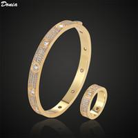 Donia Schmuck Luxus Armreif Partei Europäische und amerikanische Mode Sternenholz Kupfer Micro-Inlaid Zirkon Designer Armband Ring Set