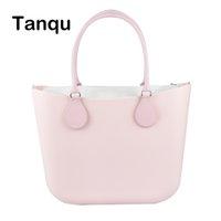 2019 Fashion Tanqu Klassische EVA-Tasche mit Einsatz Innere Tasche Griffe Silikon-Gummiwasserdichte Frauen Obag O-Beutel Art-Handtasche