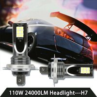 H7 80W 10000Lm Car LED Headlight Bulbs conversione Globes 6000K Kit Trave