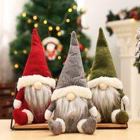 Stock américain! Figurines de poupées de Noël de Buffalo Figurines de Noël à la main Gnome sans visage Toys Peluche Toys Cadeaux Ornements Kids Xmas Décoration Fy7177