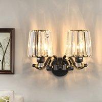 침실 연구 벽 램프 북유럽 포스트 모던 거울 크리스탈 벽 빛 크리 에이 티브 가정용 Lmps 미국의 벽 보루 실내 K9 크리스탈 램프를 주도
