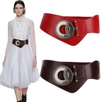 alaşım Hollow kesme Gerçek Deri elastik bel elbise tokası Yeni Moda süper Geniş inek Kuşağı İçin Kadınlar Vintage büyük