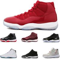 حذاء رياضة حذاء الرجال النساء أحذية كرة السلة 11 11S الفضاء كونكورد 45 تعتيم صالة الألعاب الرياضية شعبية حذاء أحمر رجل الرياضة الشحن المجاني