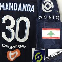 2020 Away Om Mandanda Maillot com Liban Flag Benedetto Thauvin Alvaro Rongier com Distintivo Completo de Futebol