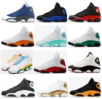 13s Flint Bred Starfish Preto Hiper Real Verde afortunado Aurora Green Men Basketball Shoes 13 Chicago Parque reversa Ele obteve a jogo Sneakers