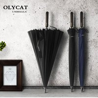 Зонтики Olycat большие женщины зонтик дождь 24k ветрозащитный мужчина ходьба палочка мужчин гольф солнца парагуас парасольская трость
