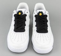 Hottest G-Dragon PEACEMINUSONE Authentic Air Force1 1 Para-Noise 2.0 Men Women White Running Shoes Black Daisy Flowers Sneakers With Box