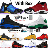 2020 Yeni Varış Jumpman 14 14 S DB Dobernbecher Spor Salonu Kırmızı Turbo Erkek Basketbol Ayakkabıları 13 13 S Hyper Kraliyet Siyah Kedi Spor Eğitmenleri Sneakers