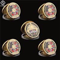 5 stücke Normandie Krieg 1944.6.6 D-Day 70. Jubiläumsschwert Omaha Handwerk vergoldet Challenge Münzen Collectibles
