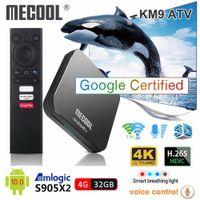 Mecool KM9 Pro ATV Android 10.0 스마트 TV 박스 Amlogic S905X2 4GB DDR4 32GB 2.4G / 5G WiFi 블루투스 TVBox Android10