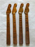 Tiger Flamme Échal électrique Col de guitare 21 FRET GUITA PARTIE REMPLACEMENT 1PC