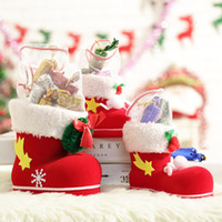 Gift Bag Children's Toys Christmas Pendant Small Boots Candy Can Box Ornaments